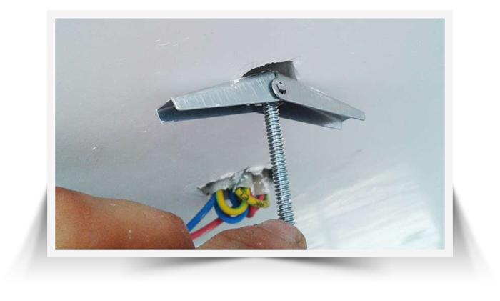 روش نصب لوستر در سقف کاذب