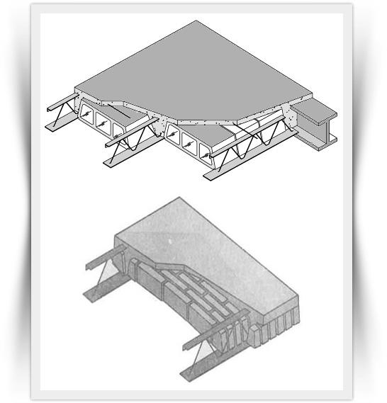 لوله گذاری برق ساختمان در سقف های ضربی