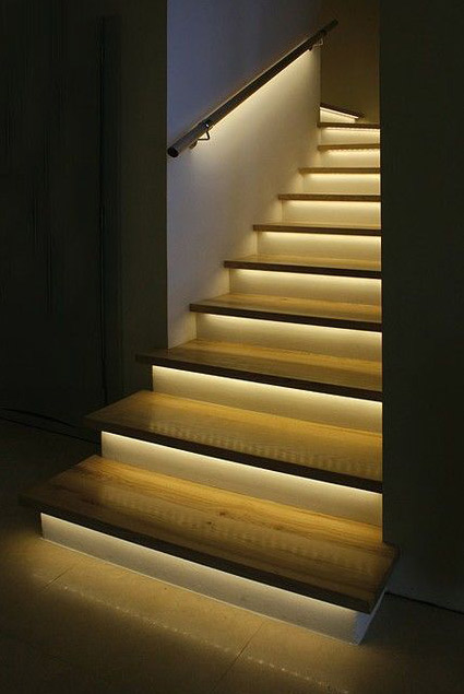 نورپردازی در راه پله