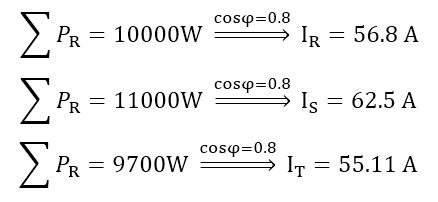 جریان گذرنده از برق سه فاز