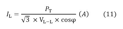 محاسبه جریان عبوری از برق سه فاز