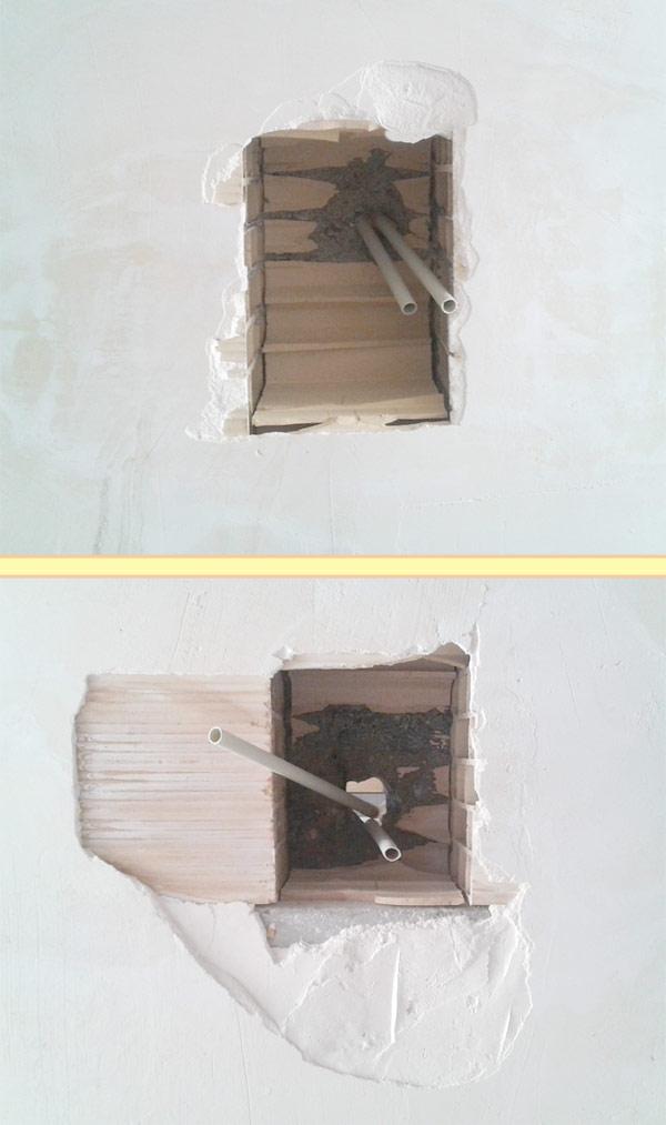 لوله کشی برق در سقف