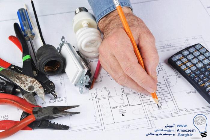 طراحی نقشه برق ساختمان
