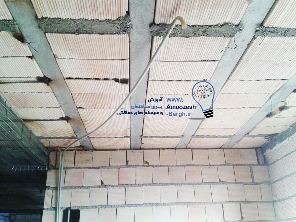 نصب لوله برق بصورت روکار